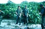 Taiping Camp Range  L to R. Pte J. Walker-Grace (Remington Shot gun), Pte O. Corbett (F.N.rifle) Pte N. Cooper. Image taken during Malayan Emergency 1959-1960. © Peter Gallacher.