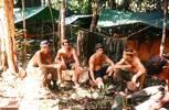 Members of 10 Pl.  L to R  B. Graham, J. Walker-Grace, J. Richardson, Sgt M. Brown. Image taken during Malayan Emergency 1959-1960. © Peter Gallacher.