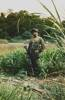 Pte Tony Frost (CO-CO). Tony was born in Fiji and lived in Auckland.  Taken on thebanks of the Perak River. Image taken during Malayan Emergency 1959-1960. © Peter Gallacher.